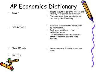 AP Economics Dictionary