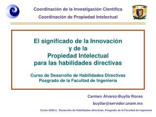 Carmen Álvarez-Buylla Roces buyllar@servidor.unam.mx