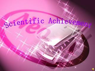 Scientific Achievement