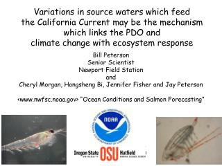 Bill Peterson Senior Scientist Newport Field Station and
