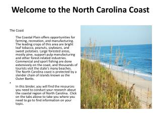 Welcome to the North Carolina Coast