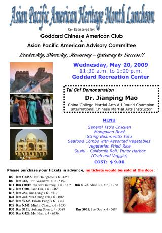Asian Pacific American Heritage Month Luncheon