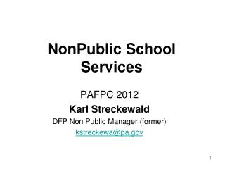 NonPublic School Services