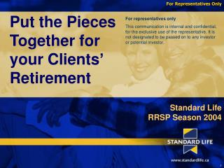 Put the Pieces Together for your Clients' Retirement