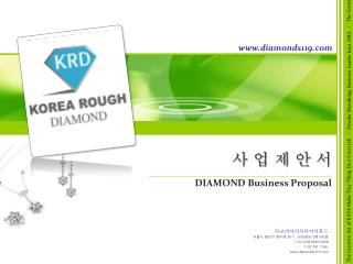 사 업 제 안 서 DIAMOND Business Proposal