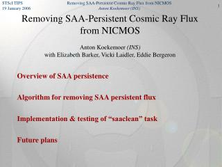 Overview of SAA persistence Algorithm for removing SAA persistent flux