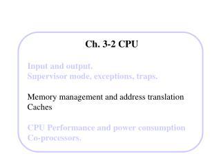 Ch. 3-2 CPU