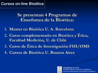 Cursos on-line Bioética