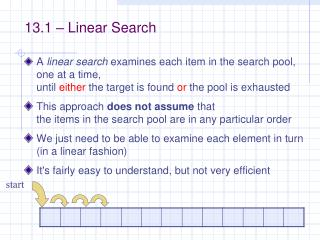 13.1 – Linear Search