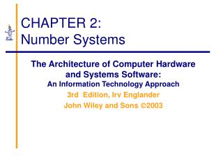 CHAPTER 2: Number Systems
