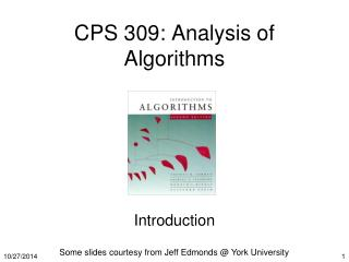 CPS 309: Analysis of Algorithms