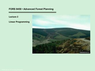 FORS 4710 / 6710 Forest Planning