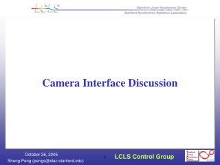 Camera Interface Discussion