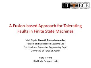 A Fusion-based Approach for Tolerating Faults in Finite State Machines