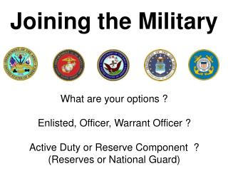 Joining the Military