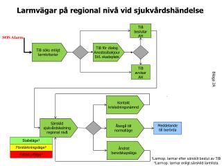 Larmvägar på regional nivå vid sjukvårdshändelse