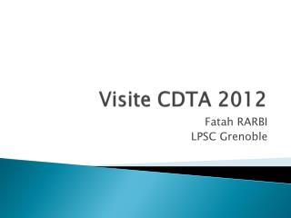 Visite CDTA 2012