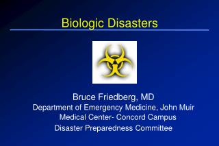 Biologic Disasters