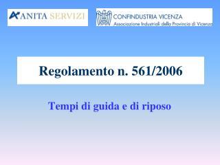 Regolamento n. 561/2006