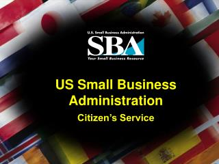 US Small Business Administration Citizen's Service