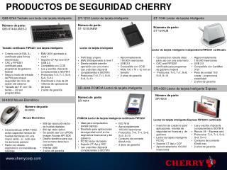 PRODUCTOS DE SEGURIDAD CHERRY