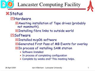 Lancaster Computing Facility