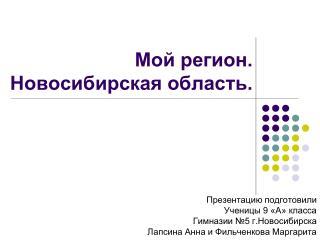 Мой регион. Новосибирская область.