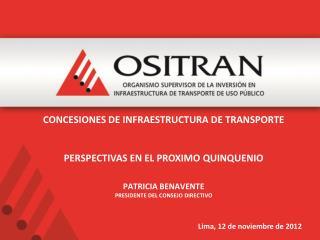 Lima,  12 de noviembre de  2012