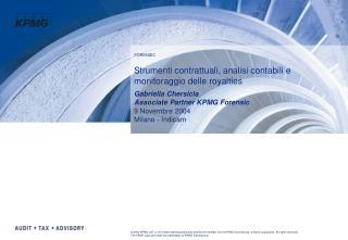 Strumenti contrattuali, analisi contabili e monitoraggio delle royalties