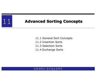 Advanced Sorting Concepts