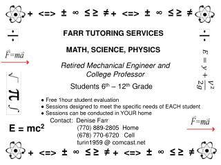 FARR TUTORING SERVICES