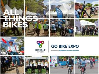 Go Bike Expo  2014      Promote your brand and drive sales to 25,000 + cyclists
