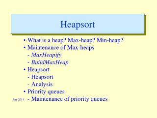 Heapsort