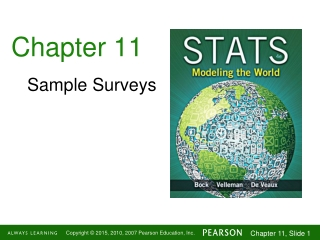 Chapter 13   Sampling:  Final and Initial Sample Size Determination