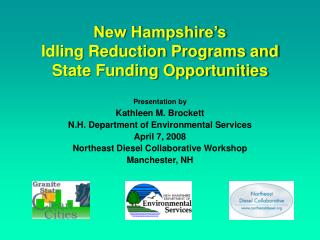 New Hampshire's Idling Reduction Programs and State Funding Opportunities
