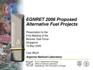 EGNRET 2006 Proposed Alternative Fuel Projects