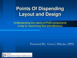 Points Of Dispending Layout and Design