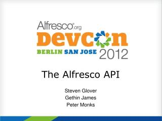 The Alfresco API