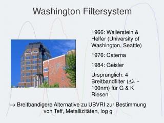 Washington Filtersystem