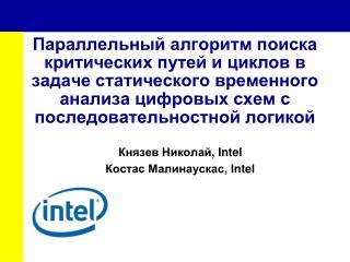 Князев Николай , Intel Костас Малинаускас , Intel