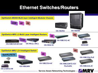 Ethernet Switches/Routers