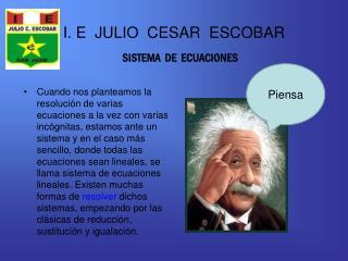 I. E  JULIO  CESAR  ESCOBAR