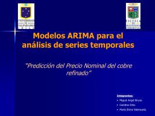 Modelos ARIMA para el análisis de series temporales