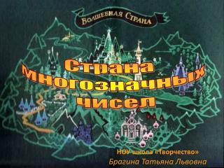 НОУ школа «Творчество» Брагина Татьяна Львовна