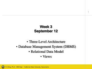 Week 3 September 12