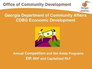 Georgia Department of Community Affairs CDBG Economic Development