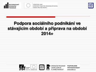 Podpora sociálního podnikání ve stávajícím období a příprava na období 2014 +