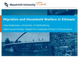 Migration and Household Welfare in Ethiopia