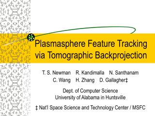 Plasmasphere Feature Tracking via Tomographic Backprojection