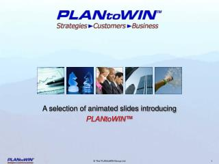 A selection of animated slides introducing  PLANtoWIN™